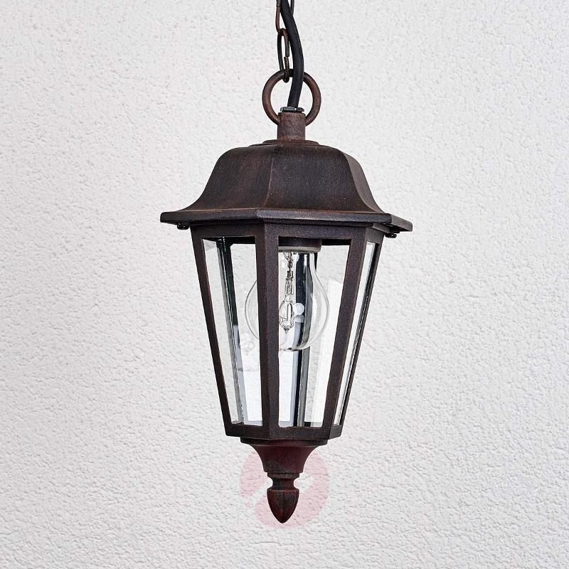Outdoor hanging light Lamina in lantern form - Outdoor Pendant Lighting