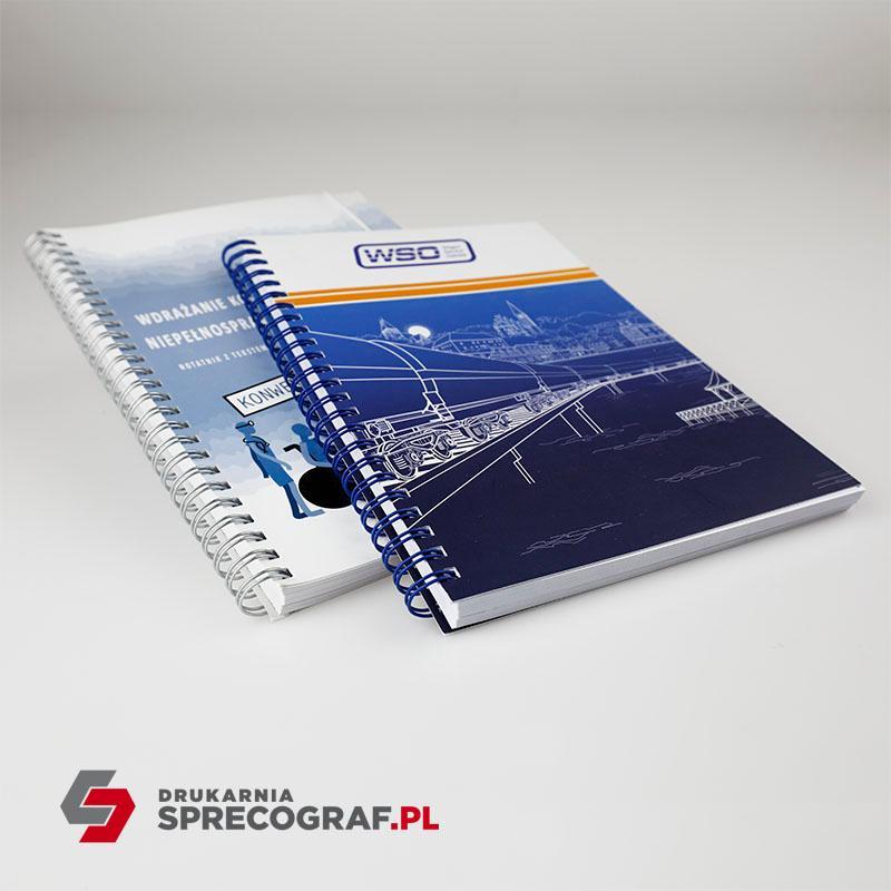 Notesy i katalogi spiralowane - oprawa spiralowana, materiały szkoleniowe, zeszyty