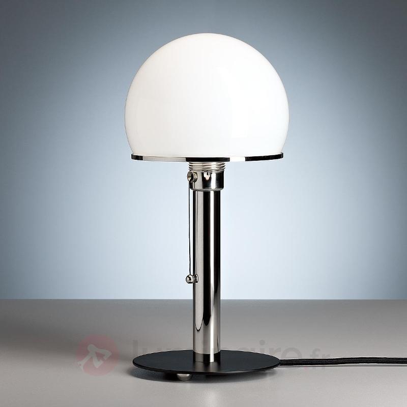 Lampe à poser Wagenfeld pied peint en noir - Lampes à poser designs