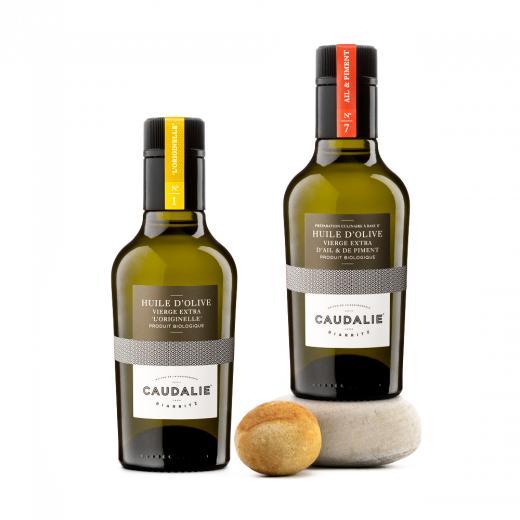 """Producteur Artisan - L'huile D'olive V.e """"ail & Piment"""" Bio - Epicerie fine:L'Huile d'Olive Vierge Extra """"Ail & Piment"""" Bio, flacon N°7- 250ml"""