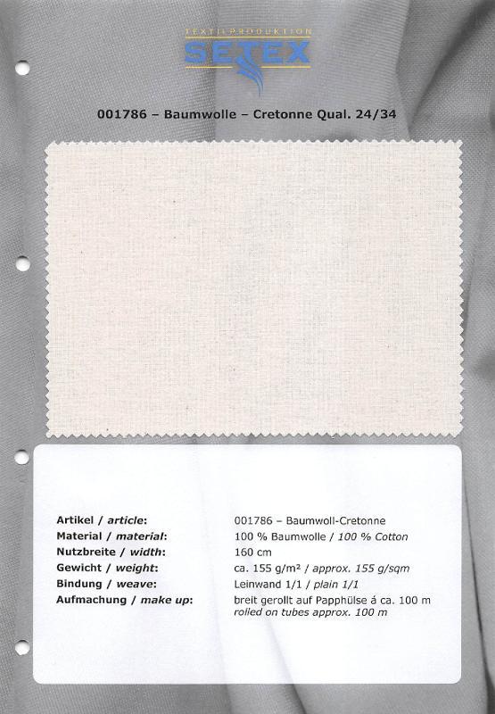 Cotton-Cretonne Qual. 24/34 - Cotton-Cretonne Qual. 24/34