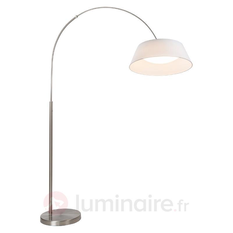 Lampadaire LED Leya arqué avec variateur tactile - Lampadaires arqués