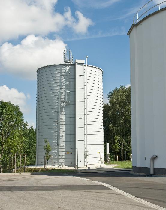 Lipp® Gas Accumulators - Cost-effective system for the non-pressurised storage of biogas etc.