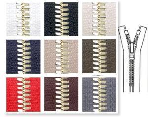 Zip 5 Excella © laiton fixe (Standard - 30 cm - Noir) - Fermetures à glissière