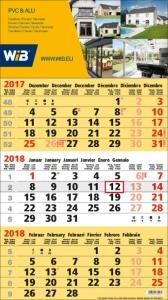 Calendriers 3 Mois - 3 Mois Business jaune