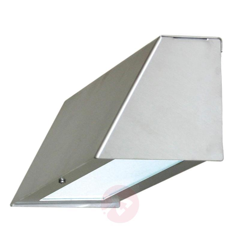 Comfortable outdoor wall lamp BENEDIKT - stainless-steel-outdoor-wall-lights