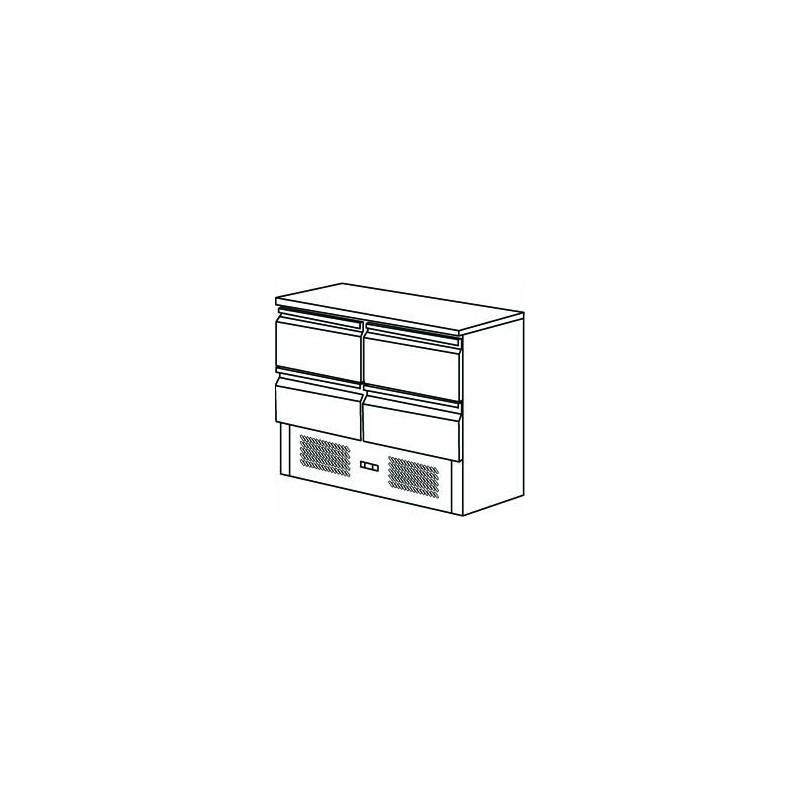 FRIGO SALADETTE 4 TIROIRS - Référence FMET1000TT
