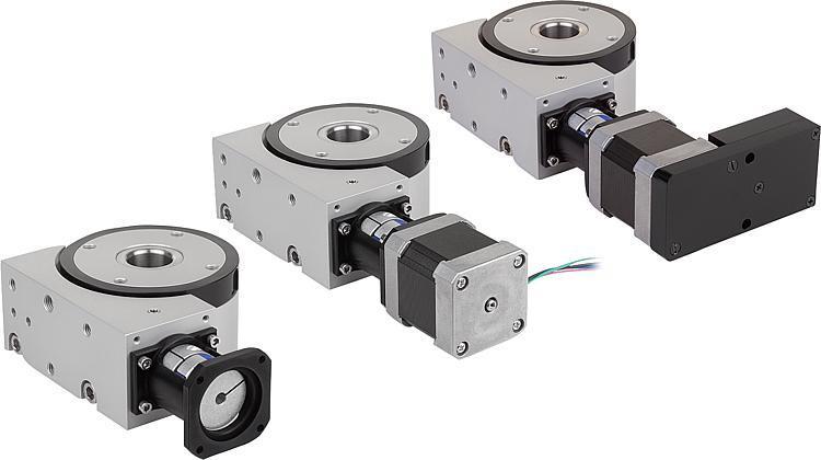 Systeme und Komponenten für den Maschinen und Anlagenbau - Positionier-Rundtische mit elektrischem Antrieb koaxial