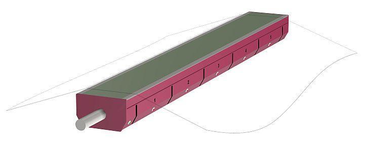 Elektronischer Multisegment-Metalldetektor (Meldebalken) - METRON 04 ProfiLine
