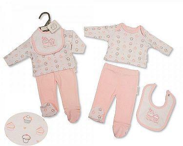 Premature Baby 3 Pieces Set - Cupcake -