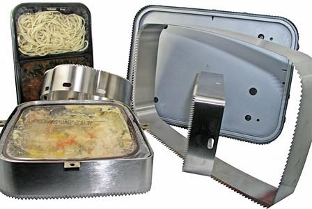 Tray sealing knives -
