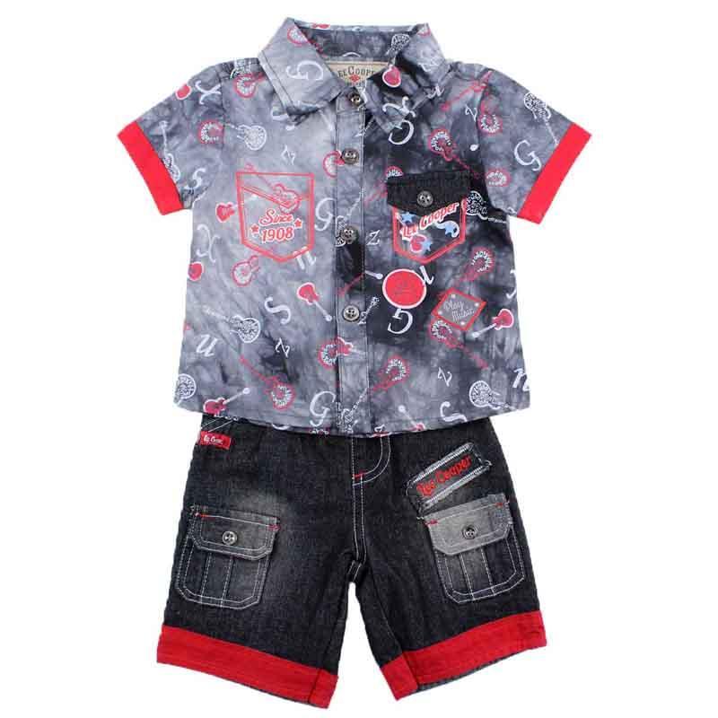 Wholesaler set of clothes baby licenced Lee Cooper - Summer Set