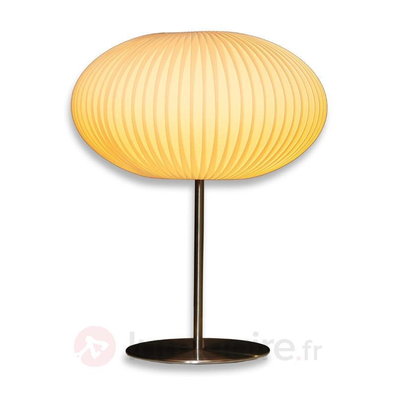 Lampe à poser Palo avec abat-jour plissé - Lampes de chevet