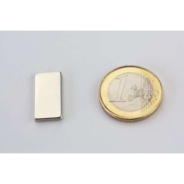 Block magnet, Neodymium, 20x10x2mm, N45, Ni-Cu-Ni,... - null
