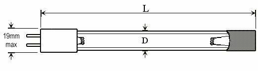 OZONE QUARTZ LAMPS - Lamp Type: O3DP-P41 - null