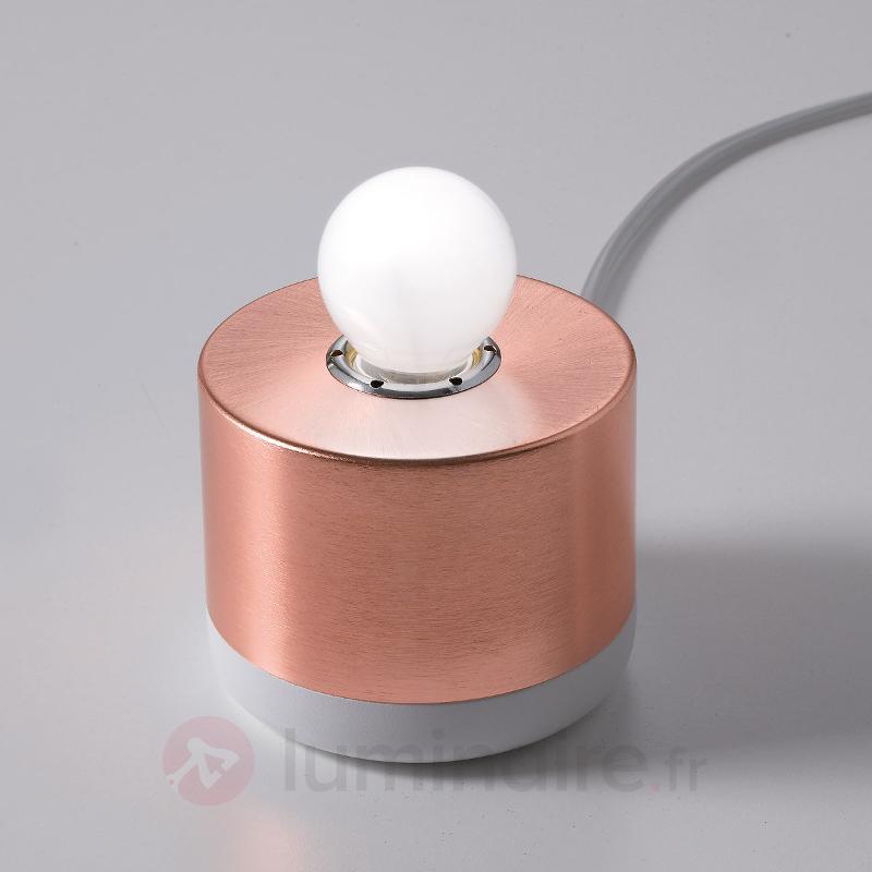 Lampe à poser ronde Parmelia aspect cuivre - Lampes de chevet