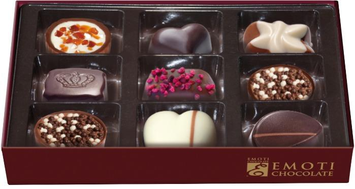 EMOTI Assorted Chocolates, Gift packed 120g. SKU: 013954rX/R -