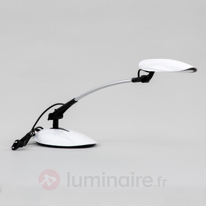 Lampe de bureau LED Havin en blanc - Lampes de bureau LED