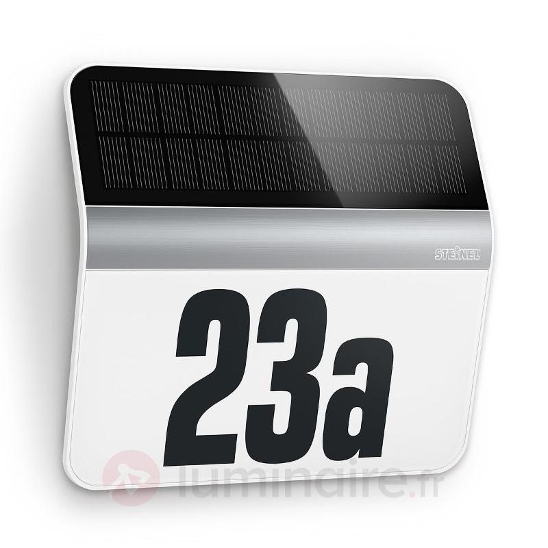 Éclairage numéro de maison LED XSolar LH-N, inox - Numéros de maison lumineux