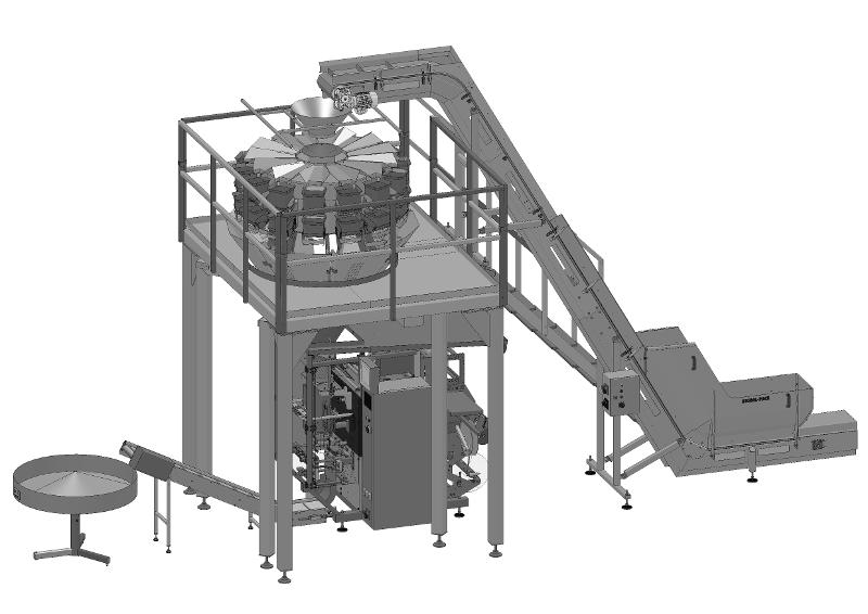 Complete Line Of Accurate Dosing And Packaging Of Fresh Cut Salad - VARIANTS OF COMPLETE LINES <ON A TURN-KEY BASIS> FOR PROCESSING AND PACKAG