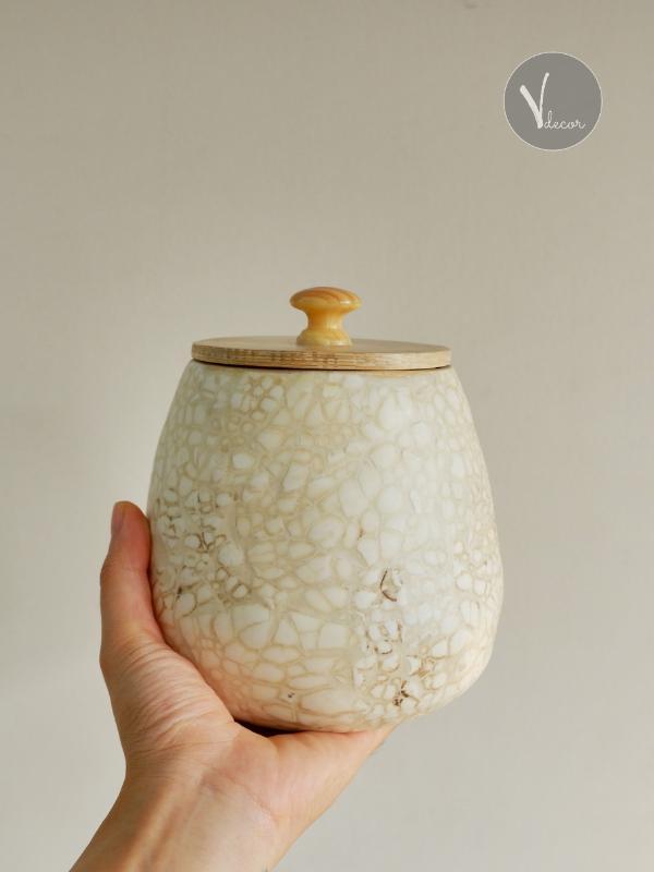 Eggshell Inlay Spun Bamboo Jar - Shop