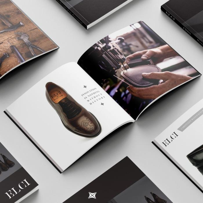 Design de catálogos de calçado -