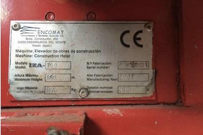 montacargas - montacargas Iza 750kg de ENCOMAT