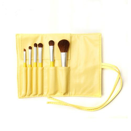 Cute Yellow Christmas Gift Makeup Brush Kit