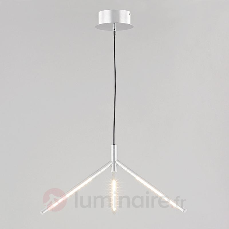 Suspension LED Mirca, argenté - Suspensions LED