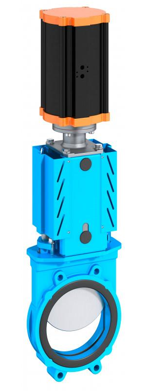 Knife gate valve type WB 11 - A bi-directional valve and can be installed independent of pressure direction.