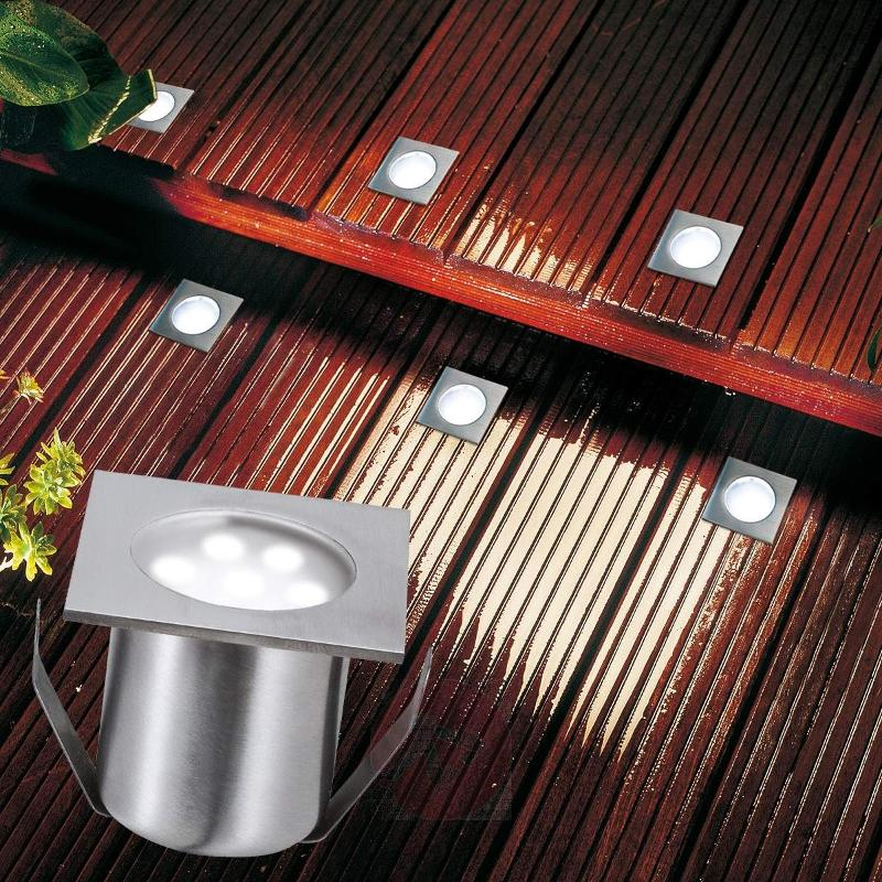 LED ground spotlight PROFI MINI basic set, square - Recessed Floor Lights