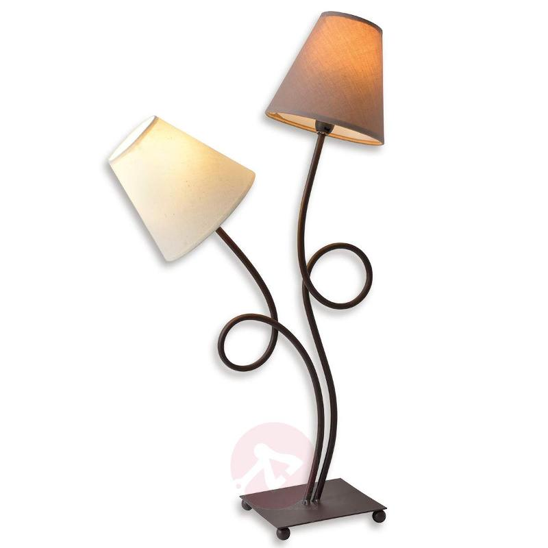 Two-bulb fabric table lamp Twiddle - Table Lamps