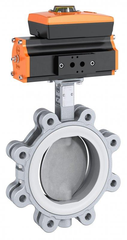 Shut-off and control valve type Z 614-K - Valve with split stainless steel body for use in the food and beverage industry