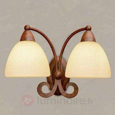 Applique Ginevra à deux lampes - Appliques rustiques
