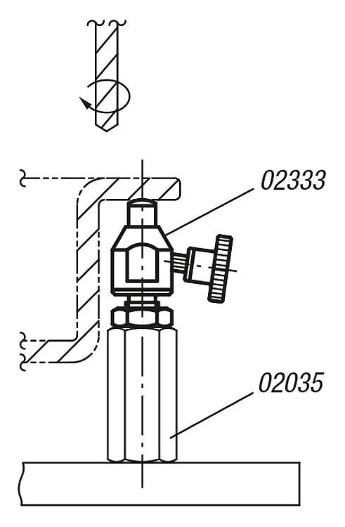 Workpiece Supports Adjustable - Support elements