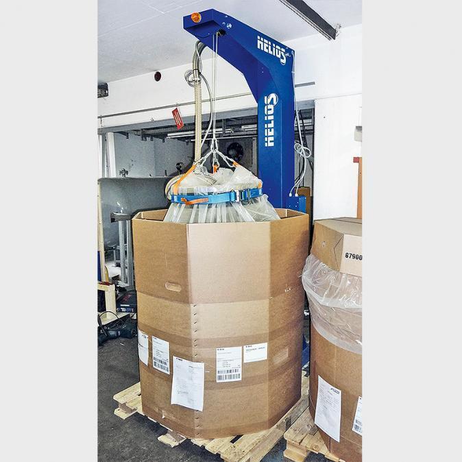 Entleerstation OKTOMAT® SOS - Automatische Entleerstation mit Oszilliersystem für Oktabin und Big Bag