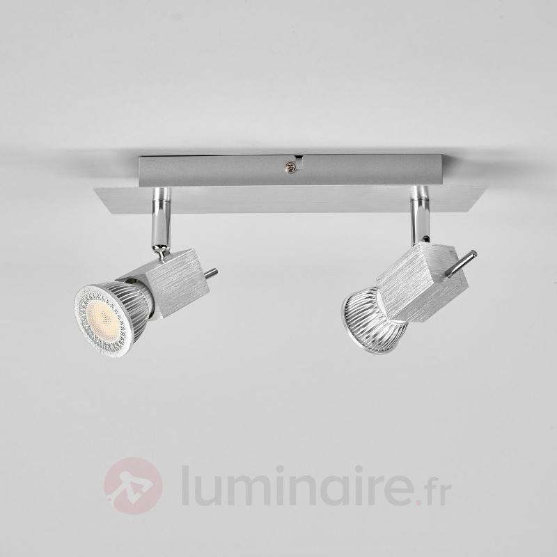 Spot en aluminium Sevina, à 2 lampes - Spots et projecteurs LED