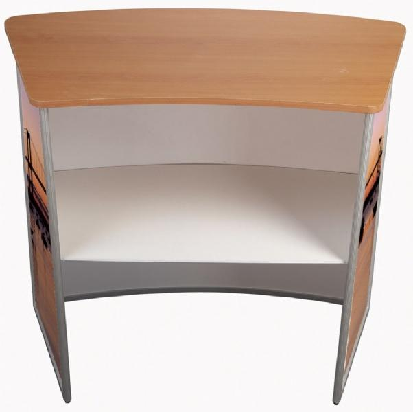 Counter Displays - Pupitre d'exposition convex - finition bois