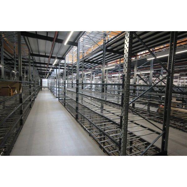 Plateforme de stockage et mezzanine industrielle - Mezzanine industrielle : Stockage sur rayonnages métalliques