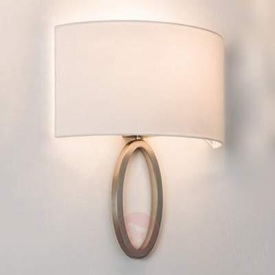 Elegant fabric wall light Lima in white - Wall Lights