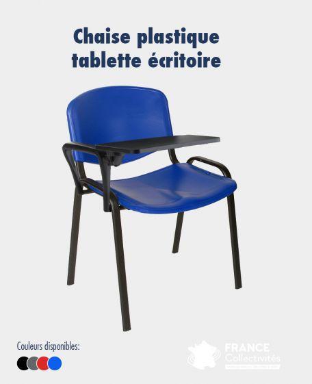 Chaise Empilable Plastique Avec Tablette Rabattable - Chaises De Collectivités