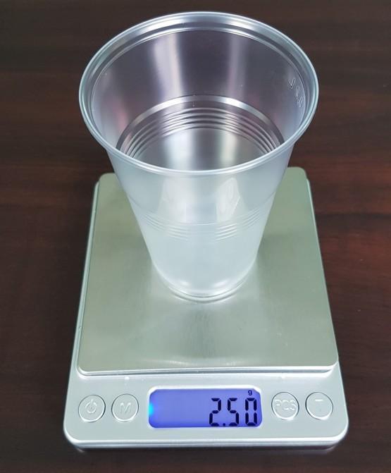 Пластиковый одноразовый стакан 2,5 гр 200 мл,  - 100 шт/уп,