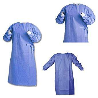 isolation gown  - Level3 , Level4 ,SMMS materials ,blue colour ,55 gsm