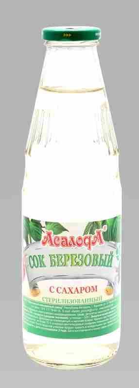 Сок березовый  - Сок березовый с сахаром 0.7л бутылка
