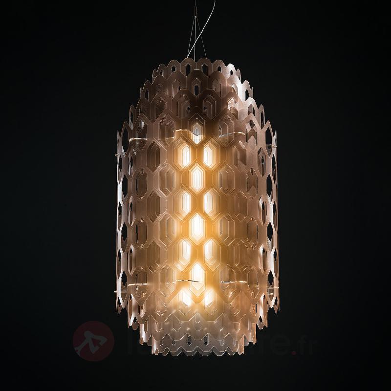 Suspension de designer LED Chantal, brun orangé - Suspensions design