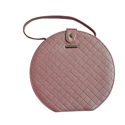 Мода круглый макияж кисти сумка косметический чехол с поясом - LMB-117