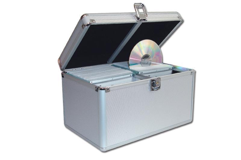 CD Koffer für 200 CD's - silber - CD Koffer / DJ Koffer