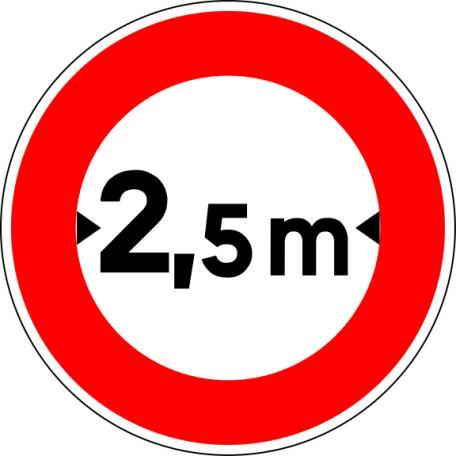 Panneau B11 Limitation De Largeur - Balisage De Chantier Et Panneaux Routiers