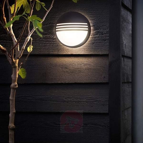 Black LED outdoor wall light Yarrow - Outdoor Wall Lights