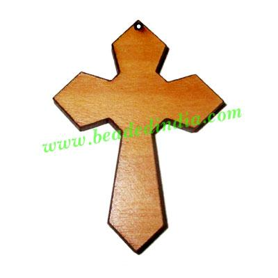 Handmade wooden cross (christian) pendants, size : 44x32x4mm - Handmade wooden cross (christian) pendants, size : 44x32x4mm